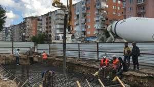 Afyonkarahisar'ın ilk Asansörlü üst geçidi inşaatı başladı