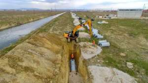 Afyonkarahisar Kuzey Atıksu Kollektör Hattı İnşaatında Çalışmalar Devam Ediyor
