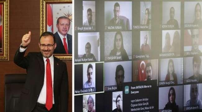 Bakan Kasapoğlu Gençlik Haftasında Temsilci Gençlerle Bir Araya Geldi