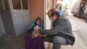 Başkan Çöl'den 65 Yaş Üstü Vatandaşlarımıza Moral Ziyareti