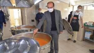 Başkan Mustafa Çöl Yemekhaneyi Ziyaret Etti