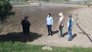 Bayat Kaymakamı Tekeş'den Örnek Çiftçi İdiris Yurtçu'ya Ziyaret