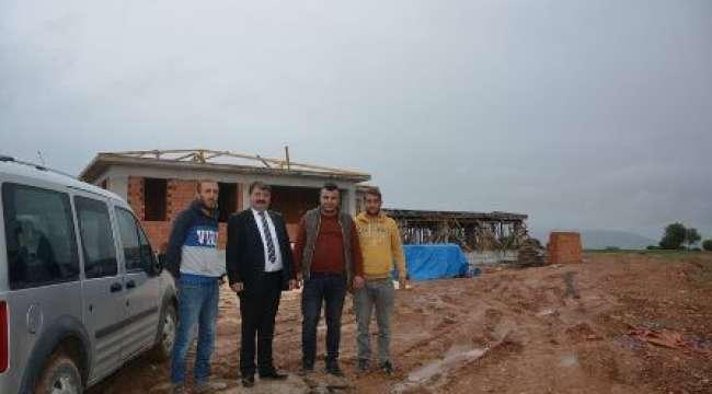 Dinar'da soksk hayvanları barınağı inşaatı devam ediyor