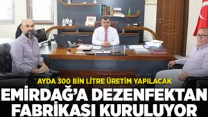 Emirdağ'dan Tüm Türkiye'ye Dezenfektan Üretecekler