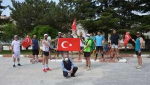 İscehisar'da Atletizme Gönülverenler Atatürk Koşusu Düzenledi
