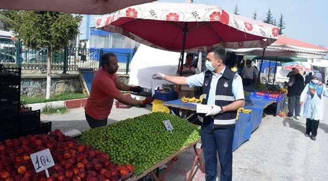 İscehisar Halk Pazarındaki Tedbirler Devam Ediyor
