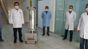 Meslek Lisesinde Ultraviyole Işınlarıyla Dezenfeksiyon Yapan Robot Geliştirildi
