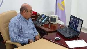 Palandöken Birlik başkanlarıyla videkonferansla görüştü