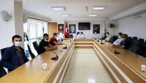 Saraydüzü Muhtarı Kurudere'den Başkan Sezen'e teşekkür ziyareti
