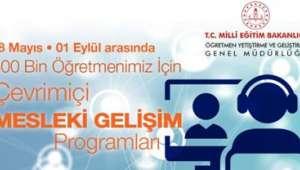 Türk eğitim tarihinin en büyük uzaktan eğitim mesleki gelişim programını başlatıyoruz