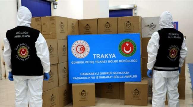 Türkiye'ye Giriş Yapan Bir Tırda Milyonlarca Makaron ve Sigara Filtresi Ele Geçirildi
