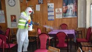 Dazkırı'da Dezenfekte Çalışmaları Hız Kesmeden Devam Ediyor