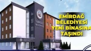 Emirdağ Belediyesi, yeni hizmet binasına taşındı.