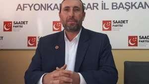SP Afyonkarahisar Merkez İlçe Başkanı Orhan Arslan : Bizden Çok İsrail'e Bayram Oldu