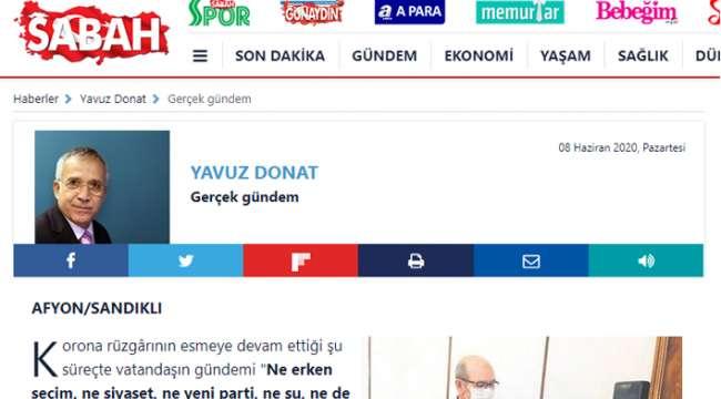 Usta Gazeteci Yavuz Donat Sandıklı'yı yazdı