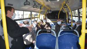 Dinar'da koronavirüs denetimi yapıldı