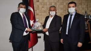 Emirdağ Belediye Başkanı Koyuncu Afyonkarahisar'da ziyaret turunda