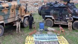 Jandarmanın başarılı operasyonunda çok sayıda mühimmat ele geçirildi