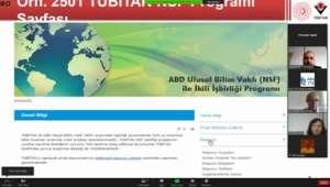 Ulusal Bilim Vakfı İkili İş Birliği Bilgilendirme Toplantısı Yapıldı