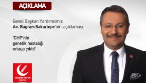 YRP Genel Başkan Yardımcısı Sakartepe : CHP'nin Genetik Hastalığı Ortaya Çıktı