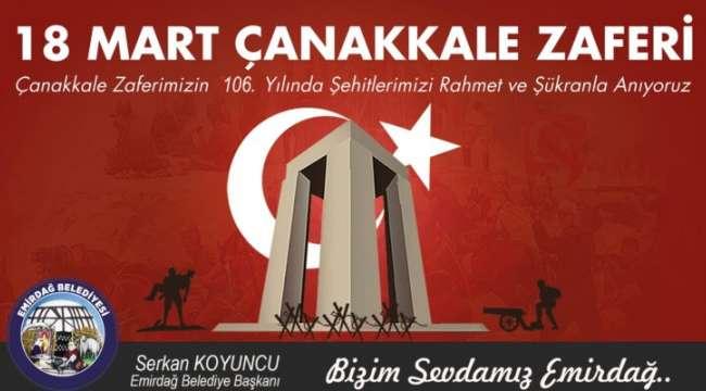 Başkan Koyuncu 18 Mart Çanakkale şehitleri gününü kutladı