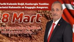 Başkan Şahin'den, 18 Mart Mesajı