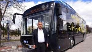 Zeybek Başkan Yüzde Yüz Yerli Elektrikli Otobüsü Test Etti