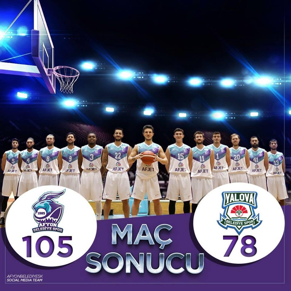Afyon Belediye Basket Farklı kazandı