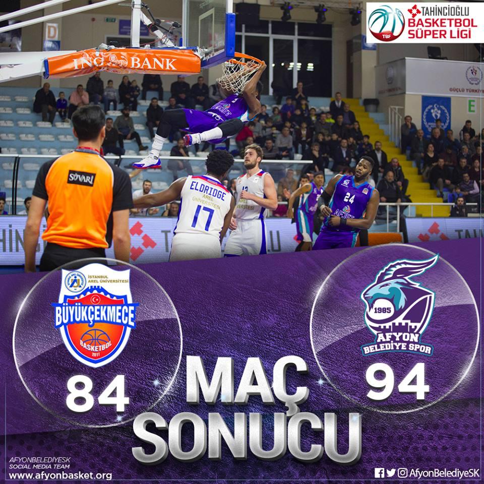 Afyon Belediye Basket sezonda 4. Galibiyetini aldı