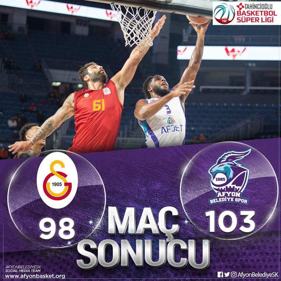 Afyon Belediye Basket Takımı Galatasaray'ı evinde yendi