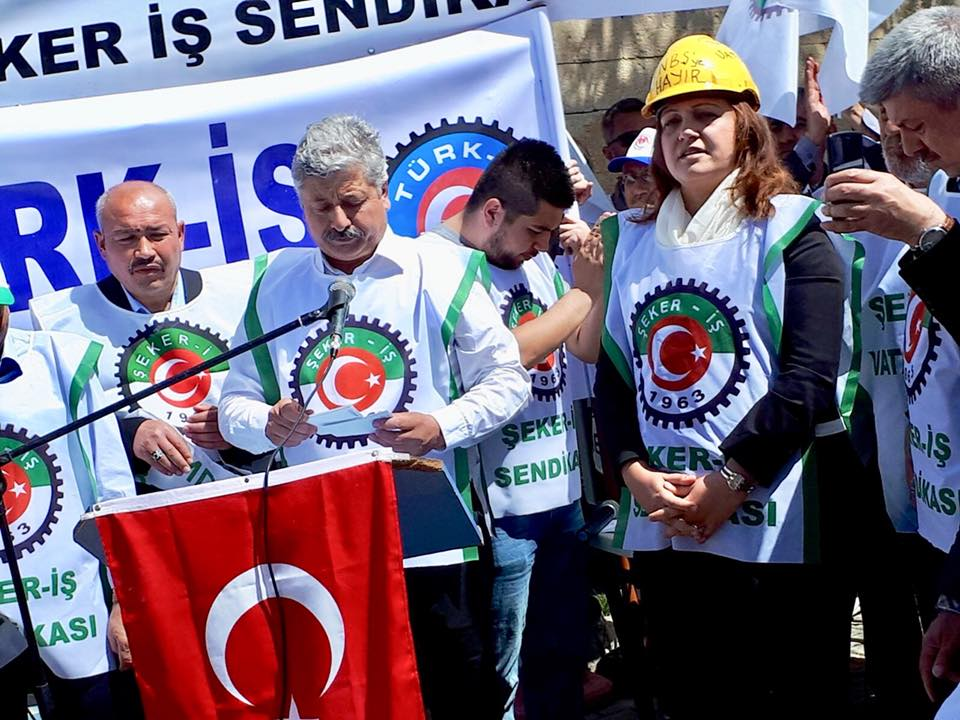 Afyon Şeker Fabrikasında protesto eylemi