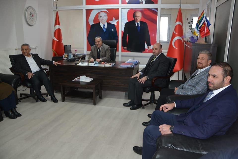 Akparti heyetinden MHP il başkanlığına ziyaret