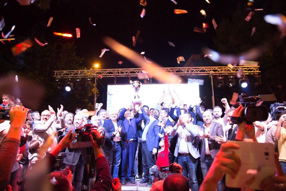 Bakan Eroğlu şampiyonluk kutlamalarına katıldı