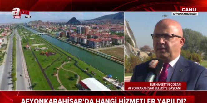 Başkan Çoban A haber Kanalı'nın canlı yayın konuğu oldu