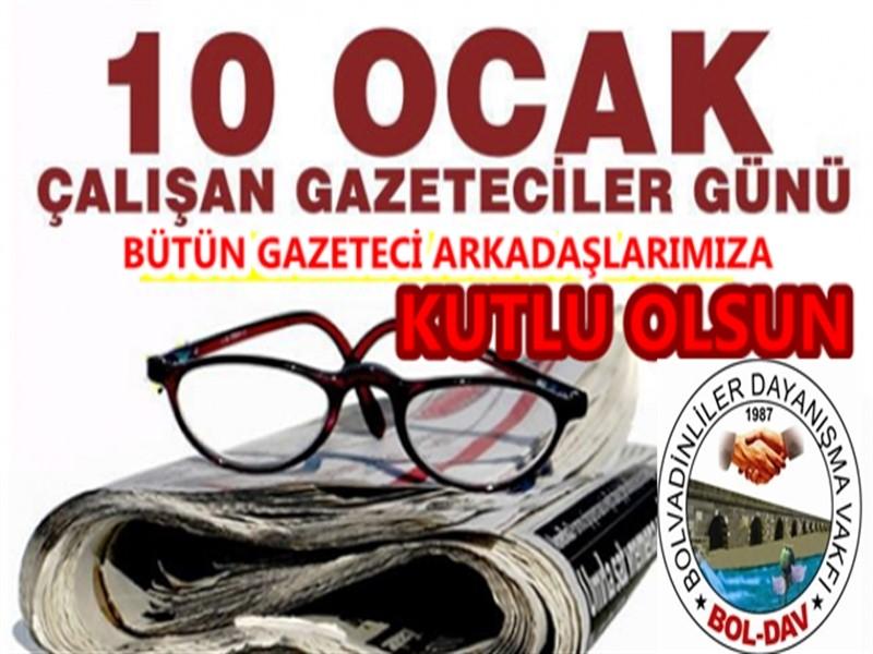 Boldav : 10 Ocak Çalışan Gazeteciler Gününü Kutlarız.!